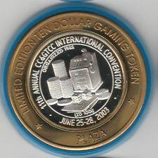 2003 Plaza CC& GTCC 11th Convention Slot Machine .999 Fine Silver Casino Token