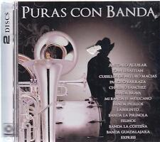 CD - Puras Con Bandas NEW Various Artist 2 CD - FAST SHIPPING !