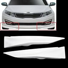 Pair of Front Bumper Lip Splitters Canards Body Kit Bodykit For Kia Optima