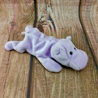 "Ty Beanie Babies Happy The Hippo Vintage 1993 retired 10"" buddies kids gift vgc"