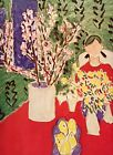 Matisse PLUM BLOSSOMS GREEN BACKGROUND 1973 repro color print