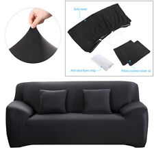 Stretch Sofa Cover 1 2 3 4 Seater Loveseat Protector Couch Slipcover Pillow Case