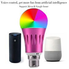 Smart Light Bulbs 7W WiFi Voice Control RGB Dimmable Pink 2.4GHZ Bulb AC85-265V