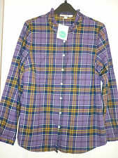 BODEN PIECRUST SHIRT LAVENDER & YELLOW CHECK. UK 12, EUR 38-40, US 8. BNWT WA540
