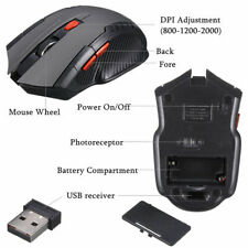 Wireless Mouse 2.4GHz 6D 1600DPI USB Optical Gaming Mice For Laptop Desktop PC