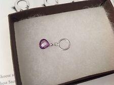 "SILPADA - C3530 - Strlng Silver ""Pop of Color"" Charm - CZ Purple Pendant/Charm"