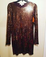 Michael Kors Womens Sz Small Chocolate Brown Sequin Dress  NWOT
