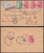 Jamaica 1923- Registered Cover to Chicago - USA..........(6G-18837) MV-1216