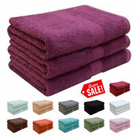 LUXURY 100% SUPERSOFT COTTON HEAVY QUALITY BATH TOWELS 580 GSM 75CM x 152CM