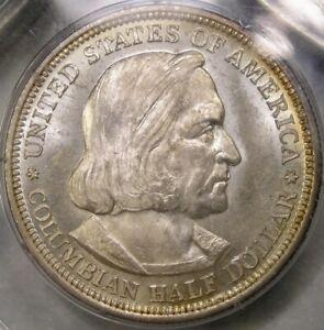 1892 COLUMBIAN EXPO COMM SILVER HALF RARE OGH RATTLER SLAB PCGS MS 65 PROOF LIKE