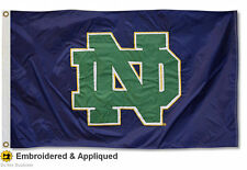 University of Notre Dame Embroidered and Appliqued Flag Large 3x5