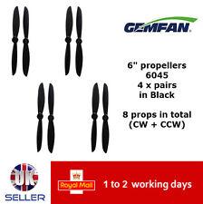 "Gemfan Propellers Props 6"" 6045 x8 4 Pairs Black QAV 250 Racer FPV Emax ZMR UK"