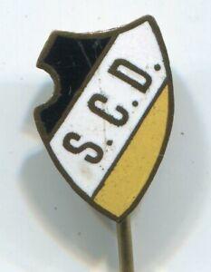 Fußball-Vereins-Abzeichen vor 1945 : S.C.D. ( Schwarz-weiß-gelb ) S.C.Dresden ??