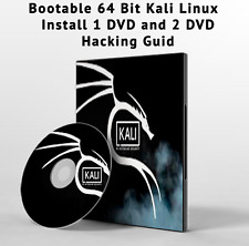 kali linux dvd  64 Bit Bootable DVD & Tutorials DVD  and hacking Guide 2 DVD