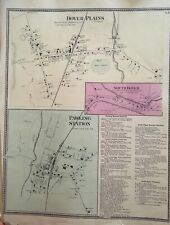 Town of Dover Plains, New York Antique Original Map Beers, Ellis, Soule 1867