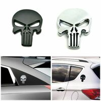 3D Metal Emblem Badge Sticker The Punisher Skull Car Motorcycle Waterproof