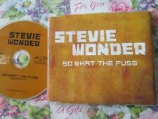 Stevie Wonder – So What The Fuss Label: Motown – SWFUSSCDP1 PROMO CD Single