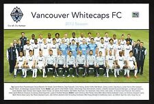 Vancouver Whitecaps--2013 Team Photo Card Schedule