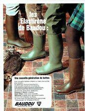 Publicité Advertising 067  1970  les bottes chasse & peche Baudou élastirène