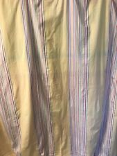 Pottery Barn Shower Curtain ~ Yellow & Multi-Color Stripes ~ 100% Cotton