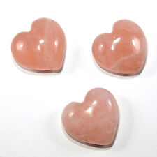 45mm Rose Quartz Puffy Heart Natural Sparkling Crystal Love Stone - India (1PC)