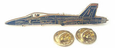 F-18 Blue Angels Aeroplane Side View Enamel Lapel Pin Badge