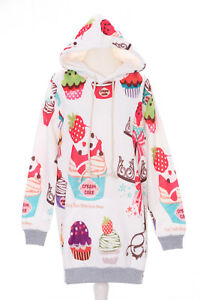 T-550 Sweet Deserts Cupcake Ice Cream Pastel Goth Lolita Pullover Kapuzen-Sweats