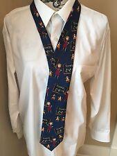 Beans McGee Men's Necktie Tie Blue Happy Days School Daze Teacher Silk