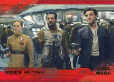 Star Wars Last Jedi S2 Red [199] Base Card #66 Poe's Mutiny