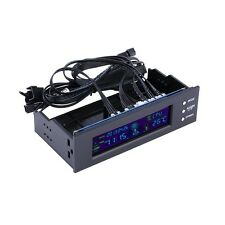 5.25 inch PC Fan Speed Controller Temperature Display LCD Front Panel H2