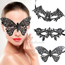 3 Modèles Dentelle Noir Oeil Floral Diamant Masque Mascarade Halloween Soiréé