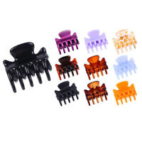 12Pcs Women Girls 3cm Mini Crab Hair Claw Clips Plastic Hairpin Jaw Clamp
