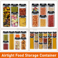 7-Piece Set Food Storage W Sealed Lid Container Kitchen Canister Set Organiser