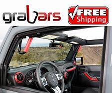 RED GraBars Grab Bars for 07-17 Jeep JK Wrangler 2 Door Front and Rear Handles
