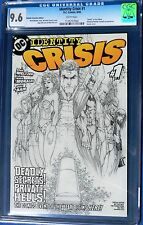 IDENTITY CRISIS #1 CGC 9.6 DIAMOND RETAIL INCENTIVE EDITION Turner Sketch