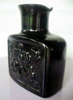 "Tiara Indiana Glass Black Regal 8"" Water Bottle Vase Carafe       TIARA MARK!"