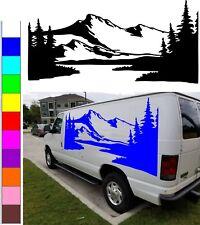 Mountain decal graphics decor for car, truck, camper, RV, van, motor home vinyl