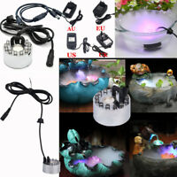 12 LED Ultrasonic Mist Maker Light Fogger Water Fountain Pond Underwater Lamp FZ