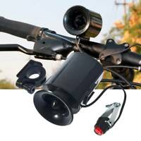 6 Bike Bell Loud Sounds Electronic Bicycle Horn Black Speaker Ultra Siren Alarm
