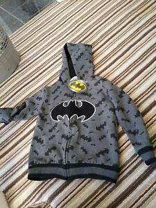 Batman Zip Up Hoodie Kids 5-6yrs