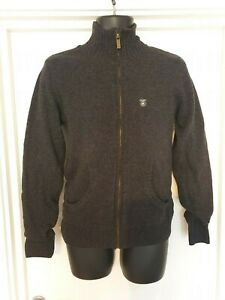 Mens Charcoal Zip Up Cardigan, By Fly53
