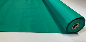 """12 Yard Emerald Green Solid Color Quilt Fabric Craft Apparel Upholstery 45""""W #68"""