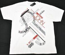 Sean John T-Shirt Men's Size XL Angle Graphic Tee White Urban Streetwear N945(d)