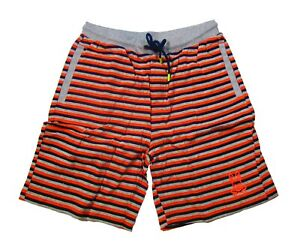 Psycho Bunny Men's Aruba Stripe Orange Lounge Shorts