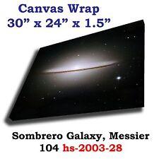 Sombrero Galaxy, Messier 104 Hubble JPL NASA space telescope canvas art print