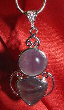 Amethyst stone pendant necklace healing jewelry fashionable purple mystical fun