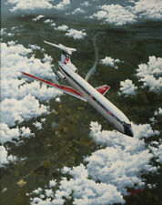Hawker Siddeley Trident BEA Airliner Aircraft Aviation Painting Art Print
