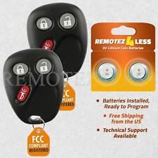 2 For 2002 2003 2004 2005 Chevrolet Trailblazer Keyless Entry Remote Car Key Fob