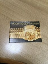 rolex oyster booklet 1996 UK