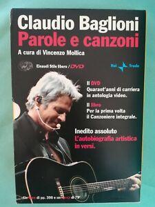 CLAUDIO BAGLIONI Parole e canzoni + DVD L'autobiografia artistica in versi
